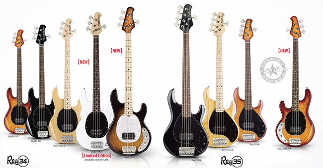 Music Man Sterling Basses